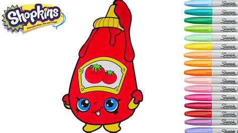 Shopkins Coloring Book Tommy Ketchup Season 1 Episode ...