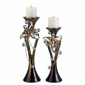 Ore, International, Florria, Decorative, Candle, Holder, Set
