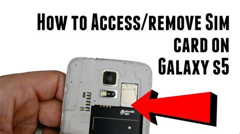 access  remove galaxy  sim card youtube