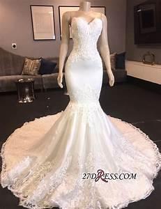 Chic Sweetheart Mermaid Wedding Dresses   2020 Long Lace ...
