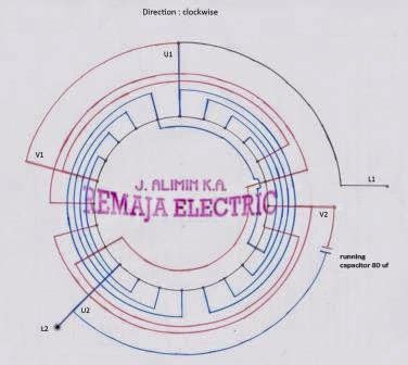 Single Phase Winding Diagram Rpm Electrical
