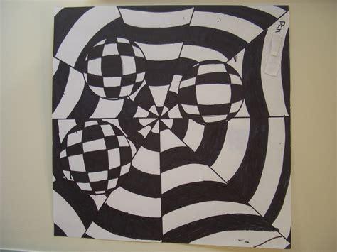 Dream Draw Create Op Art By Grade 8