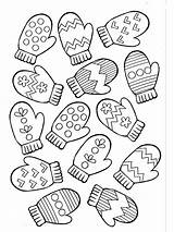 Mittens Coloring Printable Bright Colors Favorite sketch template