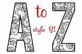 Letters Objects Creativemarket Martinchandra sketch template