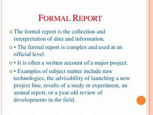 Formal Report Title Page Types Of Report Writing