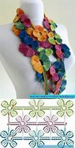 Colorful Flower Motif Crochet Scarf Pattern  U22c6 Crochet Kingdom