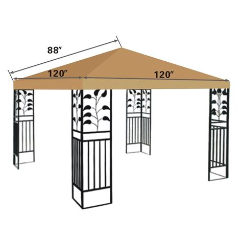 replacement canopy cover 10x10 replacement canopy top 10x10 patio pavilion gazebo