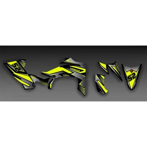 kit deco 450 yfz kit deco 100 custom yellow idgrafix yamaha yfz 450