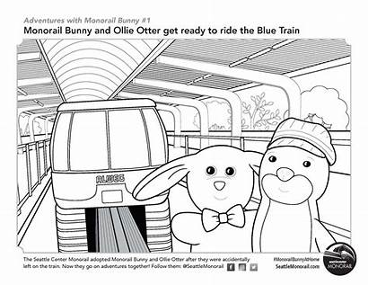 Coloring Monorail Train Station