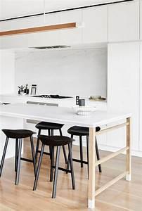 Table Cuisine Moderne : cuisine avec plan de travail table ~ Teatrodelosmanantiales.com Idées de Décoration