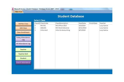 download database sample access