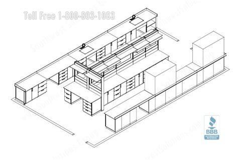 Chemical Laboratory Workstation Furniture