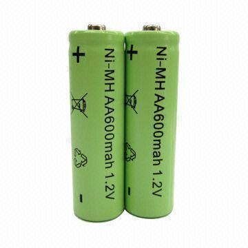 aa ni mh rechargeable batteries  led solar garden