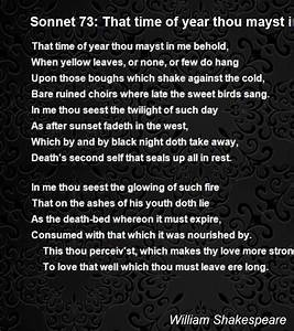 Sonnet 73 That Time Of Year Thou Mayst In Me Behold Poem