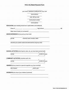 printable blank job application form pdf job application With blank resume form for job application