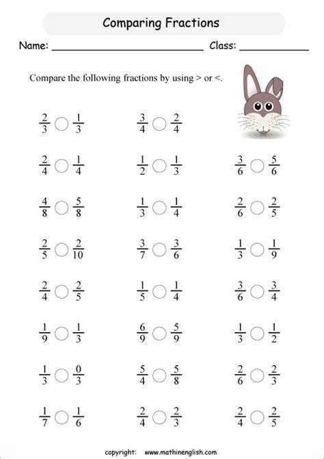نتيجة بحث الصور عن worksheets on comparing fractions for