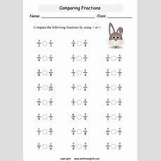 Compare Basic Like Fraction Math Fraction Worksheet For Grade 2 Math Students In Math Cram