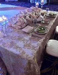 Gold Lace Table Runner Wedding