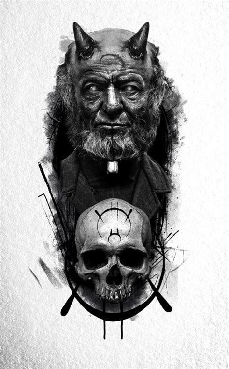 Black Mustache INK Tattoo   Сатанинское искусство, Реализм