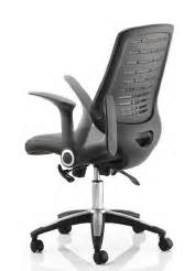 mesh high back task operators office chair with folding arms
