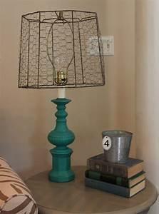 Funky Junk  Chicken Wire Lamp