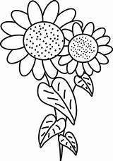 Sunflower Coloring Pages Flowers Printable Easy Drawing Clipart Simple Sunflowers Flower Bouquet Clip Colouring Leaves Colour Realistic Getdrawings Library Drawn sketch template