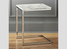 Contemporary Marble Top Accent Table — TEDX Designs The
