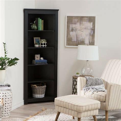 Corner Black Bookcase by Black Corner Bookshelf Home Living Room Bedroom Office