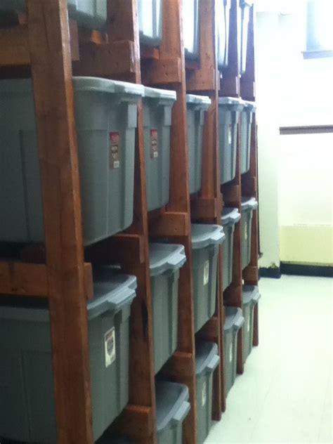 tote shelves  dream home garage organization