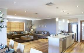 Open Plan Kitchen Dining Room And Living Room by Open Plan Kitchen Dining Room And Living Room Area On Timber Floors TIM