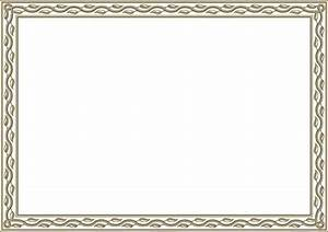 Printable Gift Certificates Borders | Blank Certificates