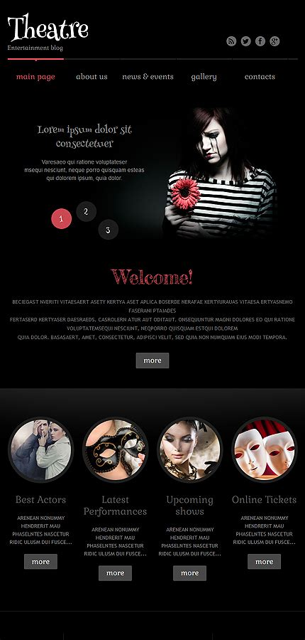 Theatre Responsive Website Template by Theater Responsive Theme Themes