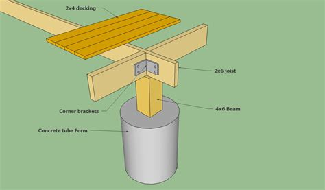 floating concrete deck footings floating deck plans free howtospecialist how to build