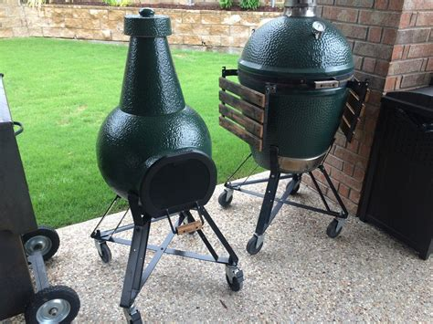 big green egg chiminea bge chiminea stand big green egg egghead forum the