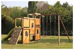 Aire De Jeux En Bois Pour Particulier : fabriquer une aire de jeux en bois ~ Dailycaller-alerts.com Idées de Décoration