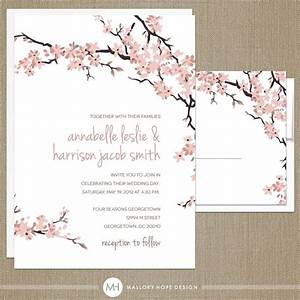 cherry blossoms wedding invitation rsvp set floral With beautiful wedding invitations messages