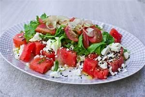 Melone Mit Schafskäse : schmeckt wenigstens nach sommer wassermelonensalat mit thymian und schafsk se fressen und ~ Watch28wear.com Haus und Dekorationen