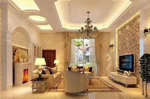 Moderne Tapeten Wohnzimmer : tapeten design wohnzimmer moderne design mit muster tapete beige gold an der wand inklusive ~ Sanjose-hotels-ca.com Haus und Dekorationen
