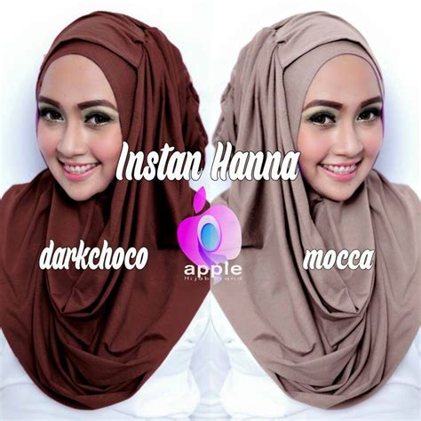 memakai jilbab hana instan tutorial hijab