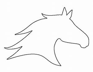 Horse head pattern. Use the printable outline for crafts ...
