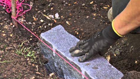 granit randsteine setzen diy handbuch galabau 01 randstein setzen