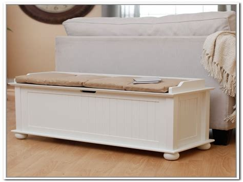 Storage Bench Seat For Bedroom, White Storage Bench Seat