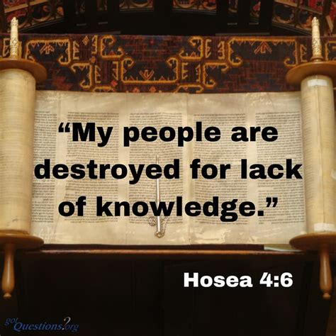 people destroyed   lack  knowledge hosea