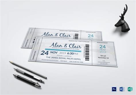 Boat Tickets by Boat Boarding Pass Invitation Ticket Design Template In