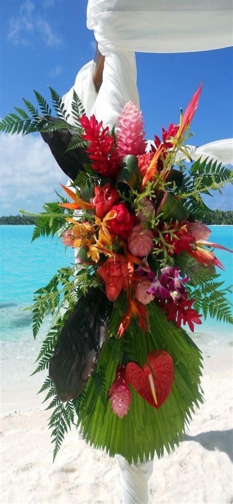 The St Regis Bora Bora Resort Wedding Arch Detail