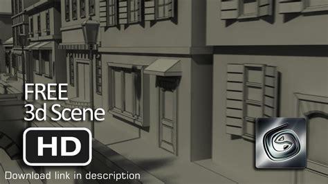 Classic European Buildings 3d Model