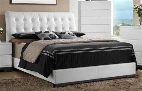 tufted bed king white contemporary 6 king bedroom set avery rc 2959