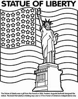 Statue Liberty Crayola Libertad Estatua Guardado Desde Markers sketch template