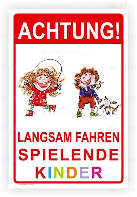 warnschild spielende kinder achtung langsam fahren spielende kinder warnschild