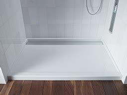 shower bases easy design   ground  kohler